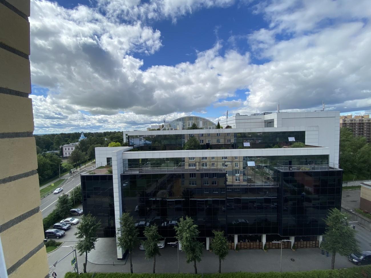 Вид с 9 этажа на Тензор